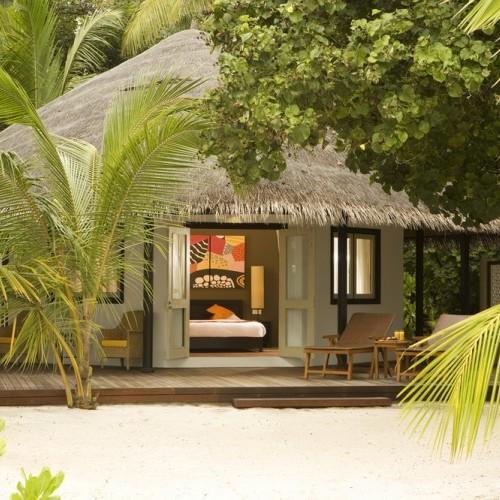 Luxury beach hut accommodation