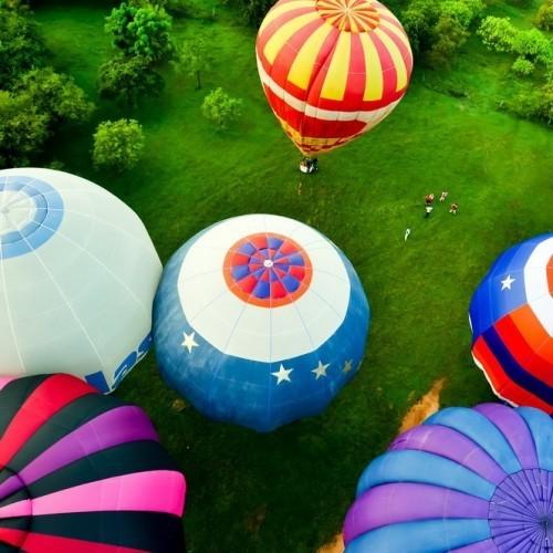 Hot air balloon flight around the rock fortress of Sigiriya, Heritance Kandalama, Sri Lanka
