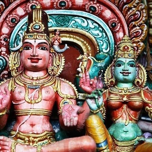 Detail of Hindu Devale, Kandy, Sri Lanka